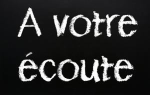 """Satisfaction client - Texte """"A votre écoute"""""""
