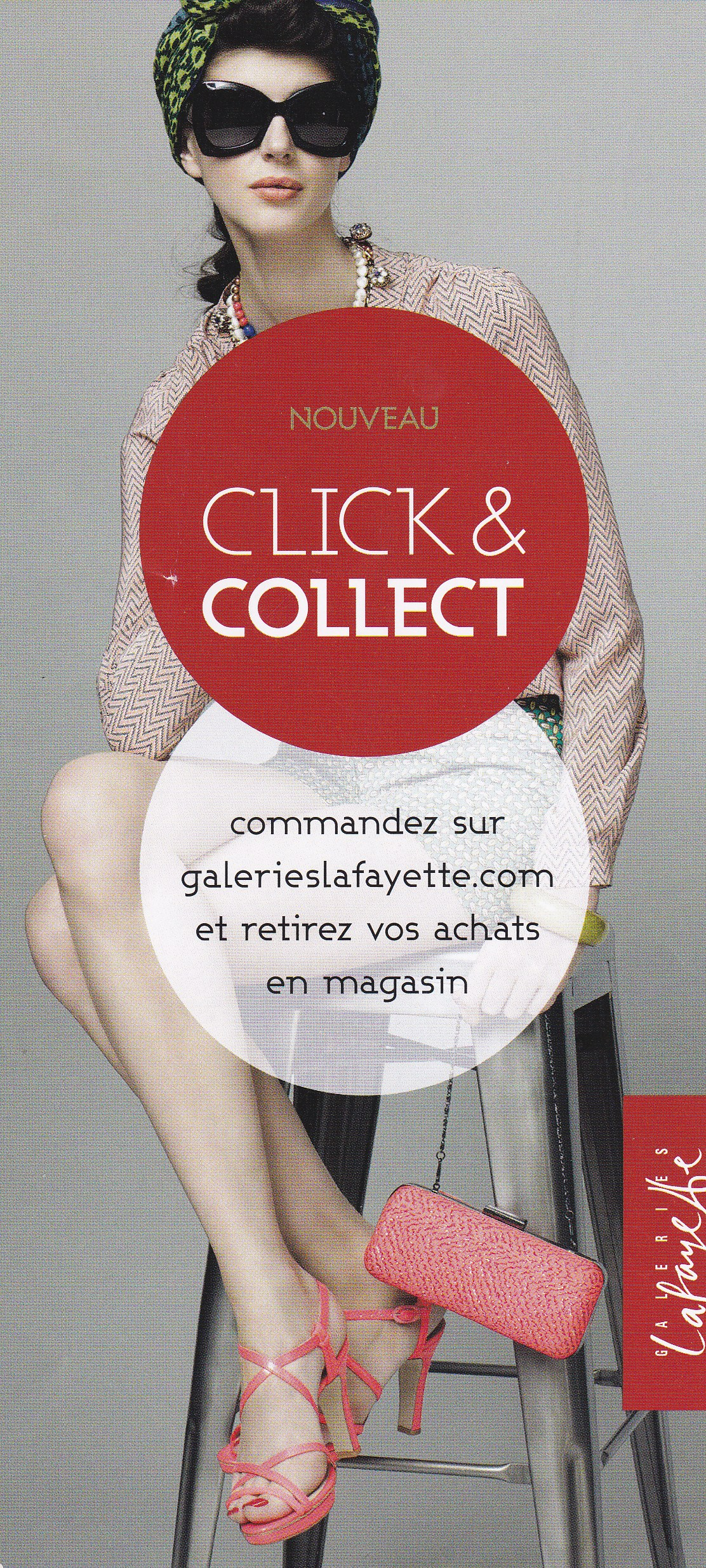 satisfaction client : pub click and collect Galeries Lafayette